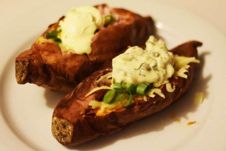 Air fryer baked sweet potatoes 5