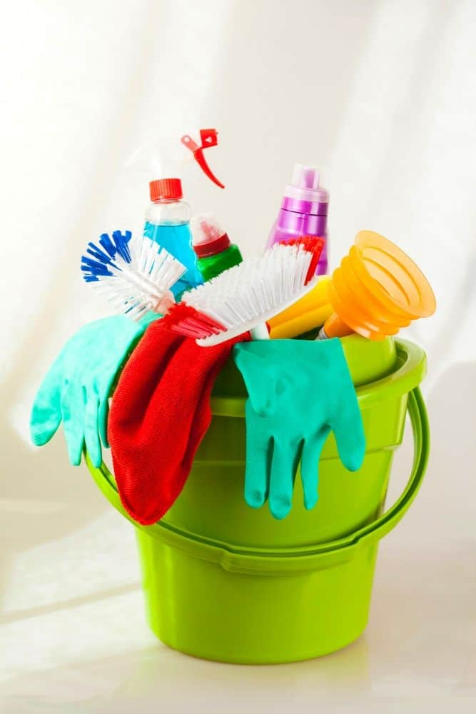 Essential cleaning supplies for deep cleaning a home