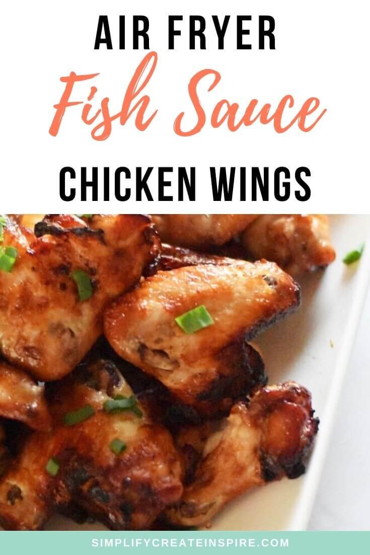 Air fryer fish sauce chicken wings