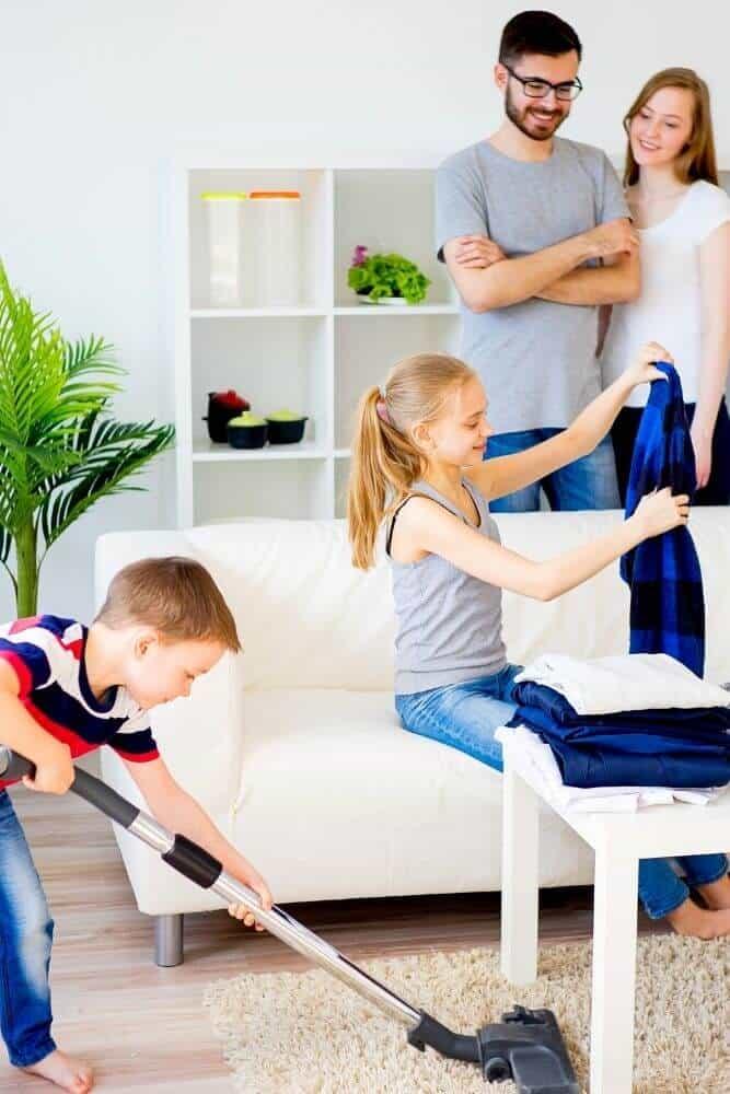 Kids doing household chores