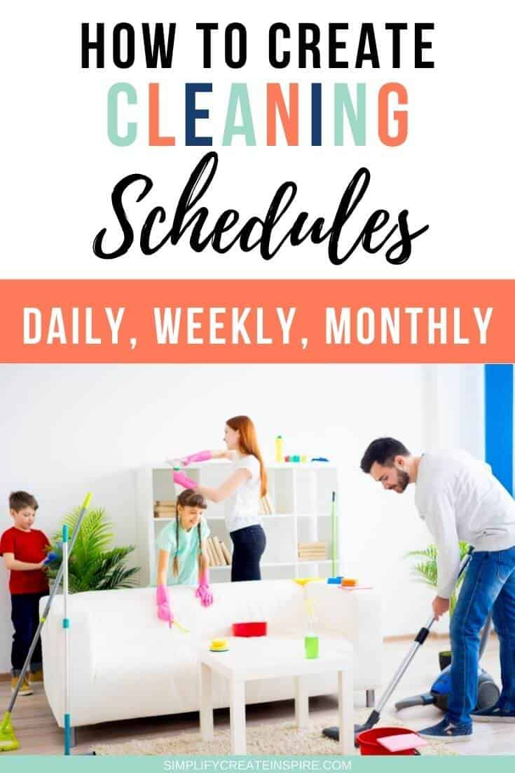 daily weekly monthly cleaning schedules