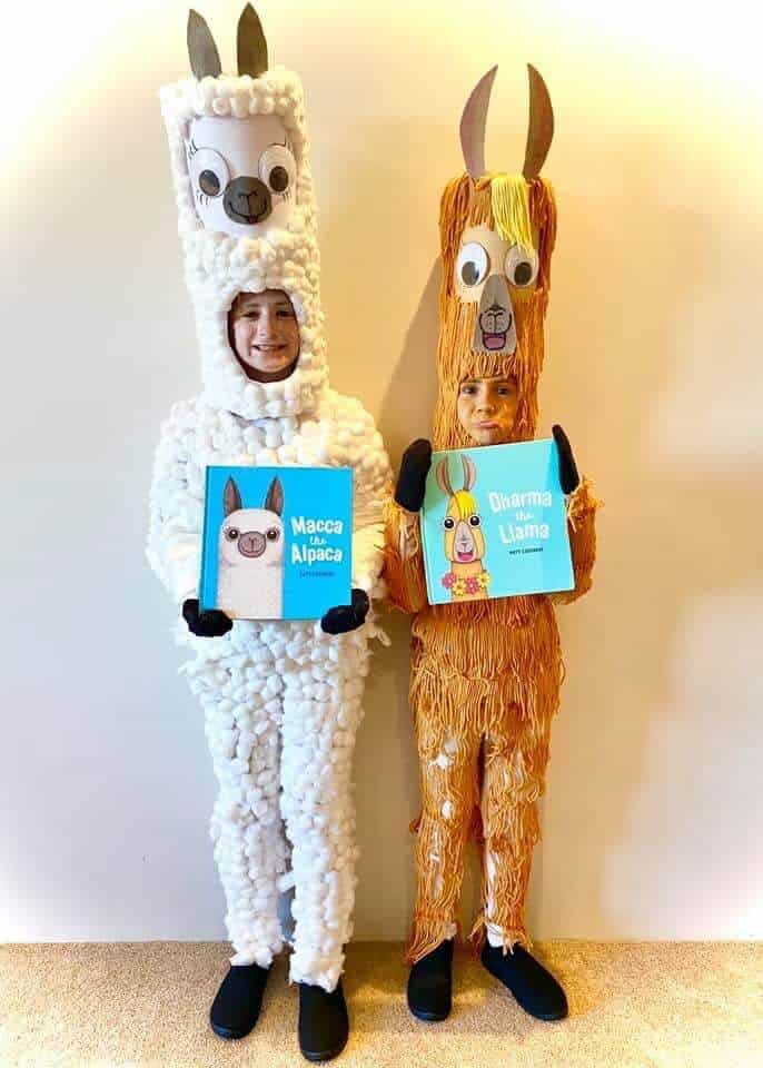 Macca the alpaca costume diy