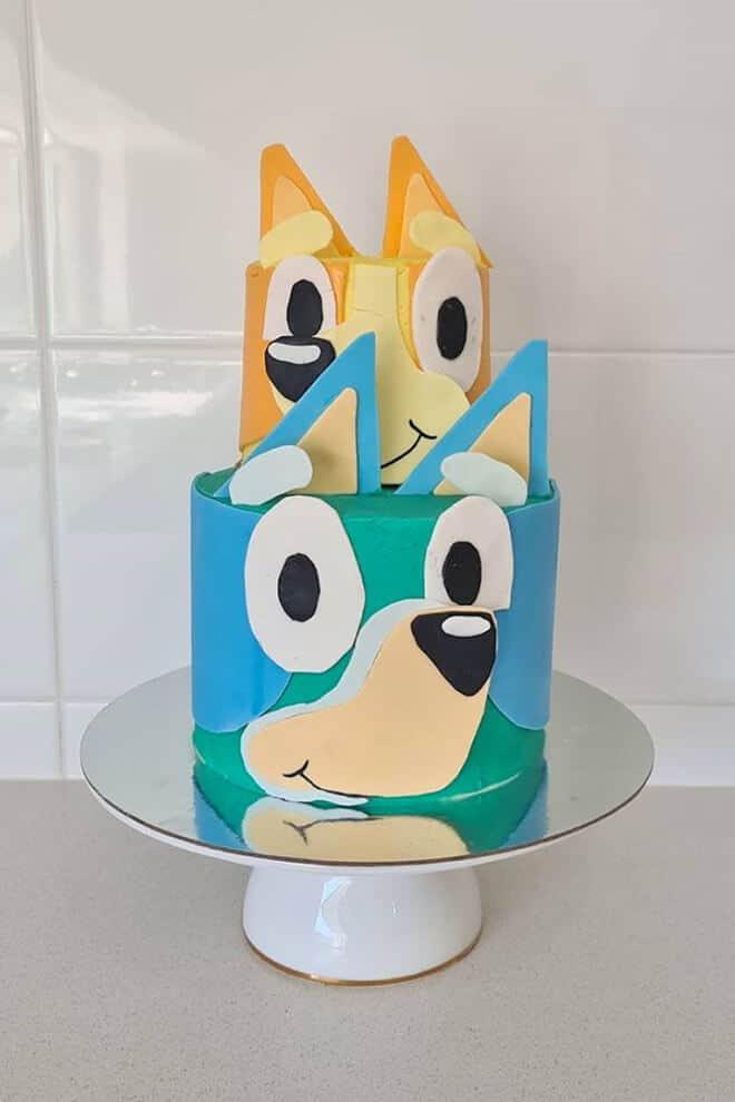 Bluey and bingo cake