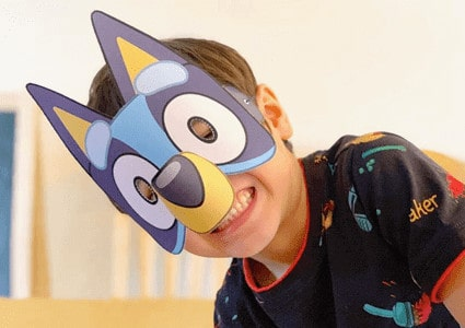 Bluey paper mask template 1
