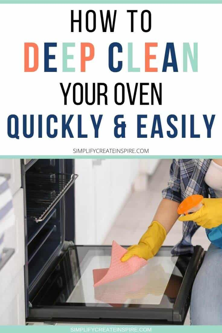 How to deep clean your oven