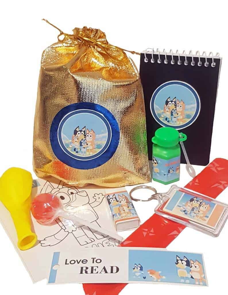 Bluey birthday party ideas favour bags
