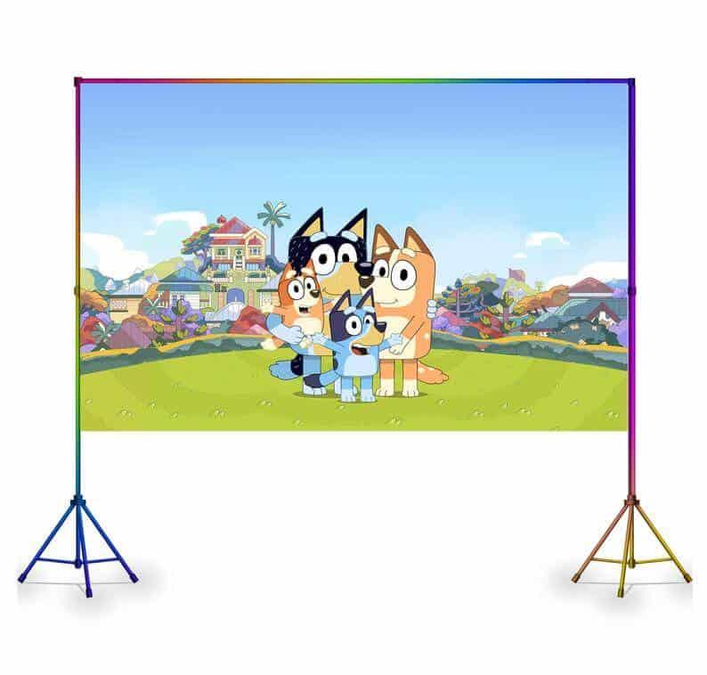 Bluey photo backdrop