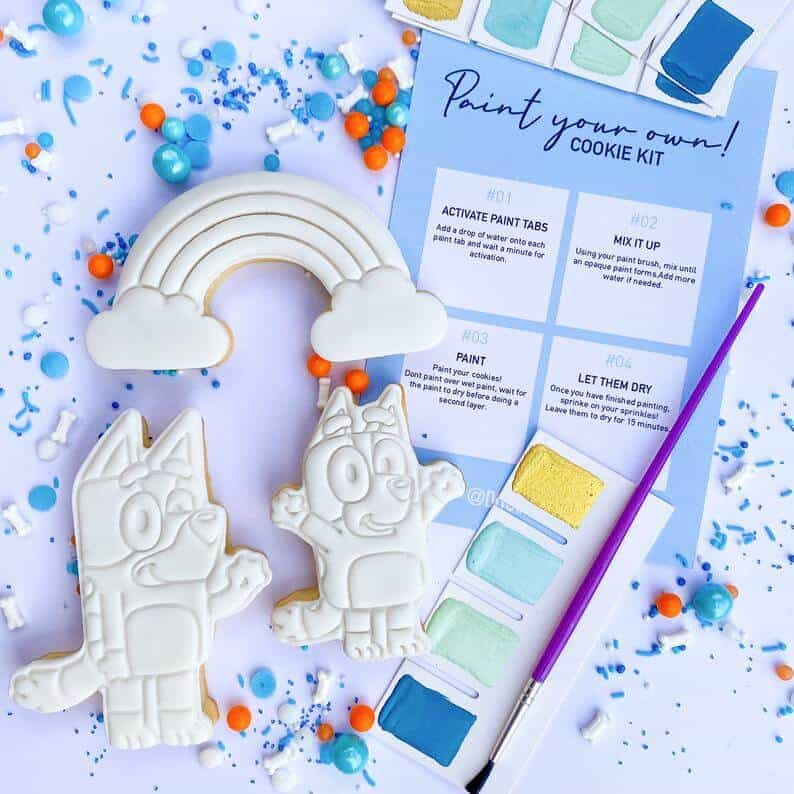 Bluey cookie decoration set