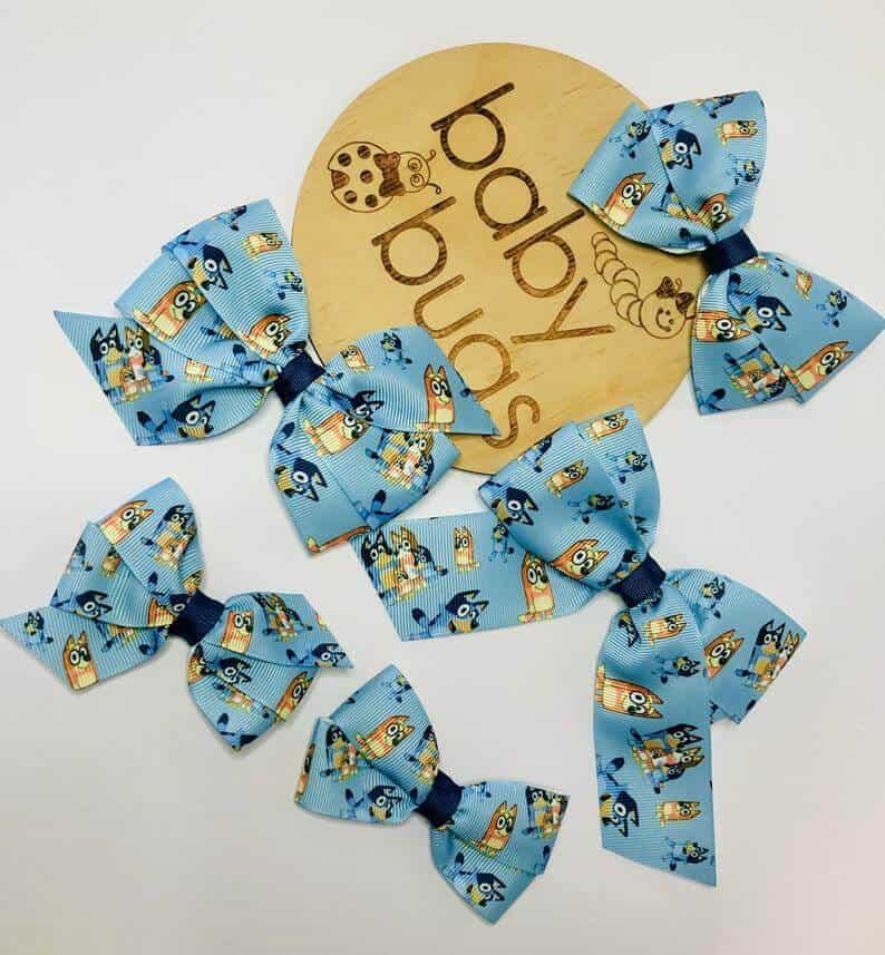 Bluey hairclips