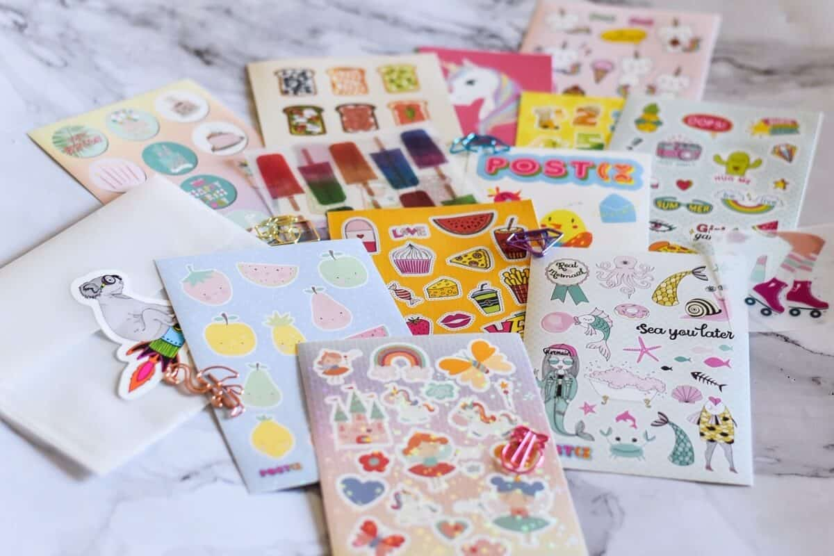 Postix sticker club monthly subscription box