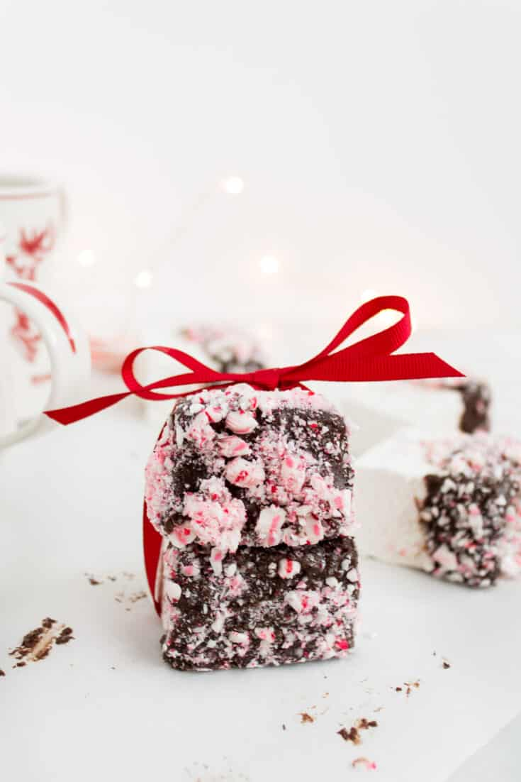 Chocolate covered marshmallows with peppermint 11 scaled 1