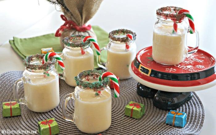 Christmas candy cane eggnog recipe