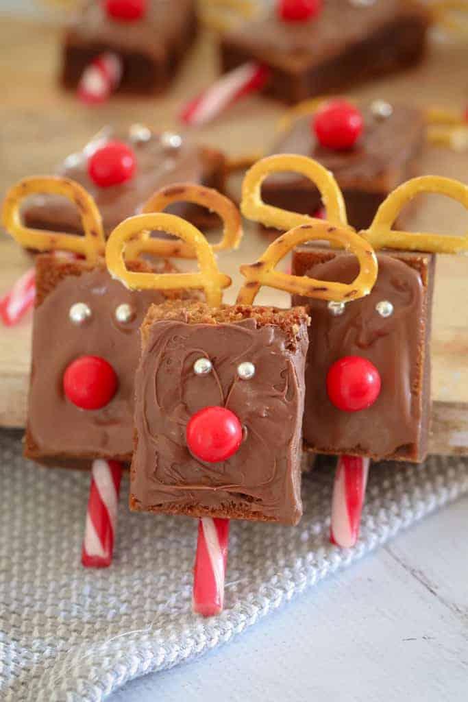Christmas reindeer brownies 7