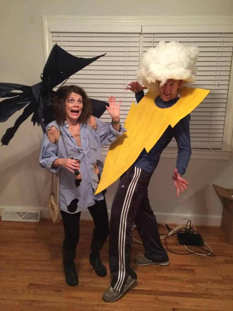 Struck by lightning couple costume