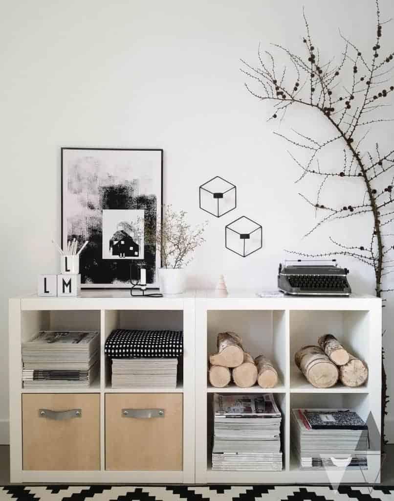 Decorative storage with kallax