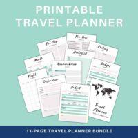 printable travel planner