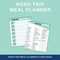 road trip meal planner