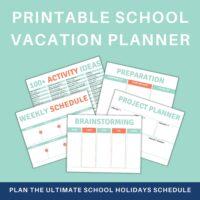 school vacation planner