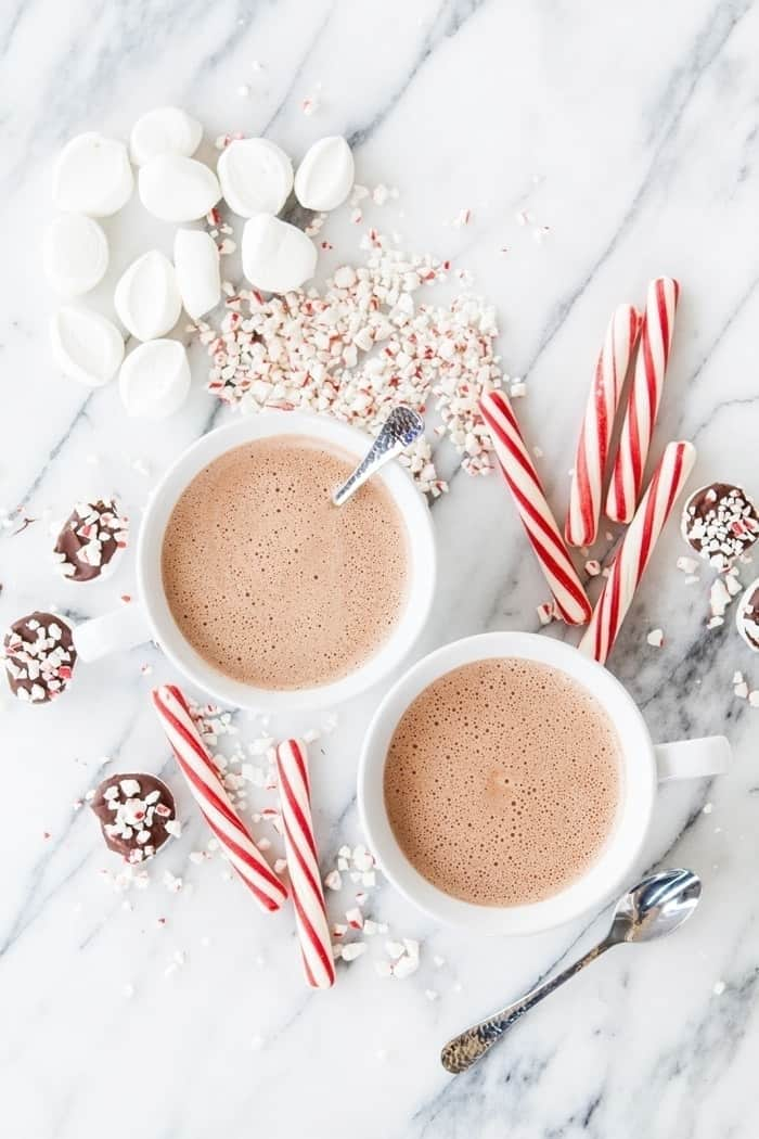 Spiked peppermint mocha hot chocolate 4