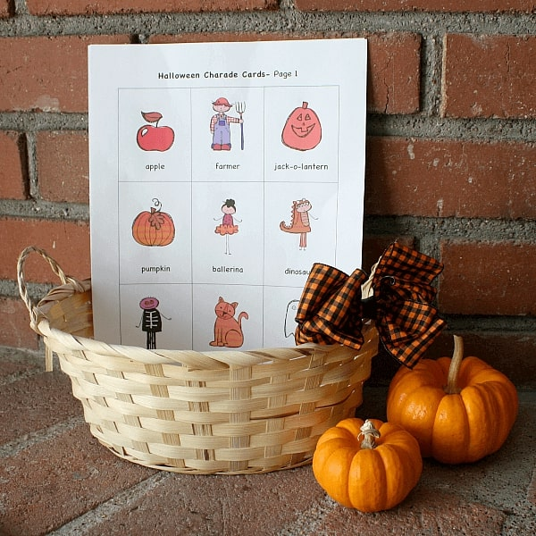 Halloween party games charades