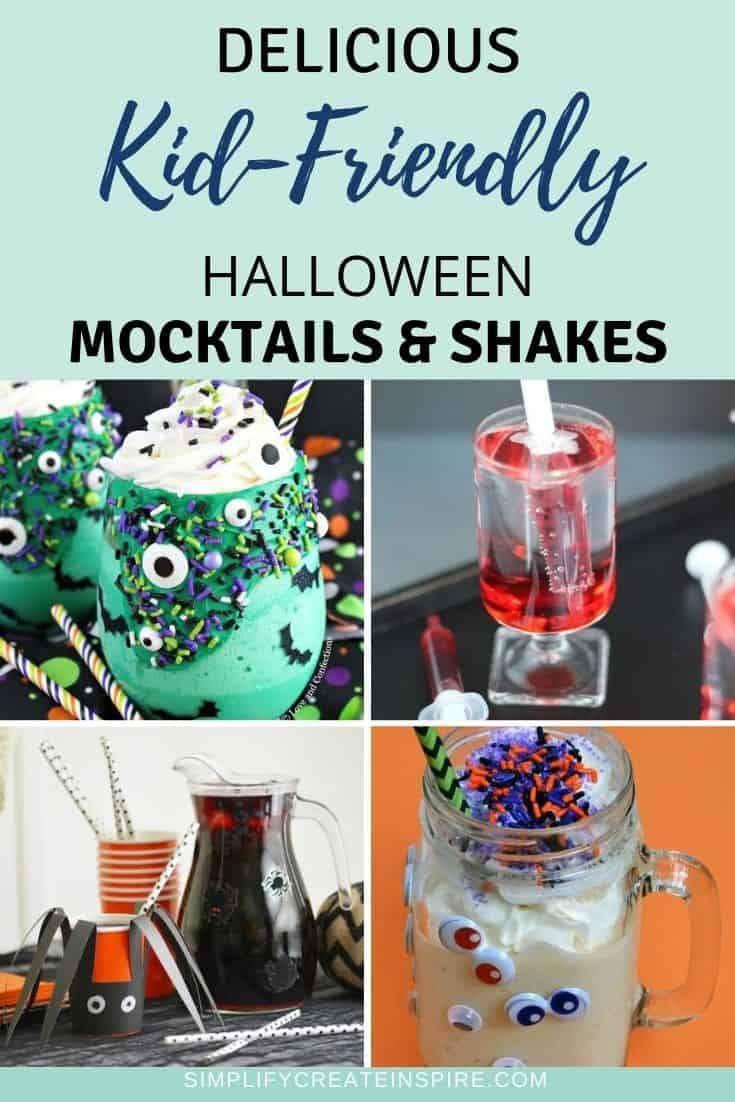 Halloween mocktails for kids - non-alcoholic halloween drinks