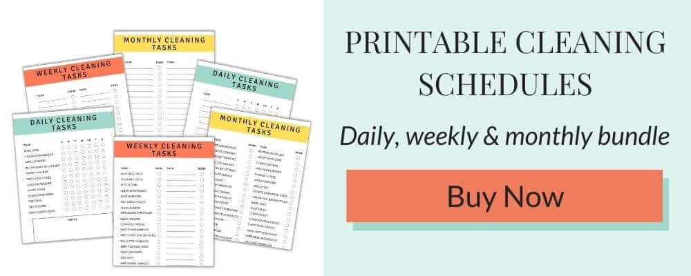 Printable cleaning schedule bundle