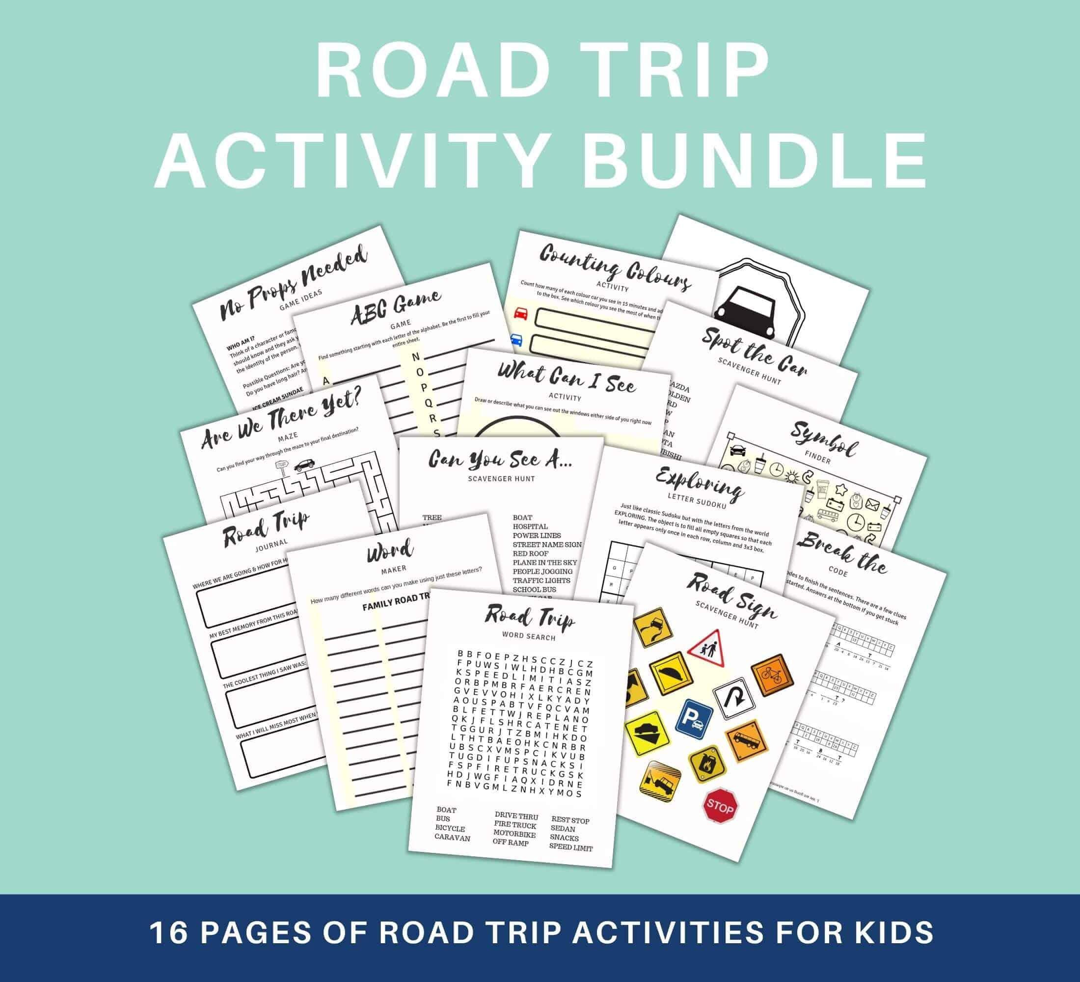 Road Trip Activity Bundle