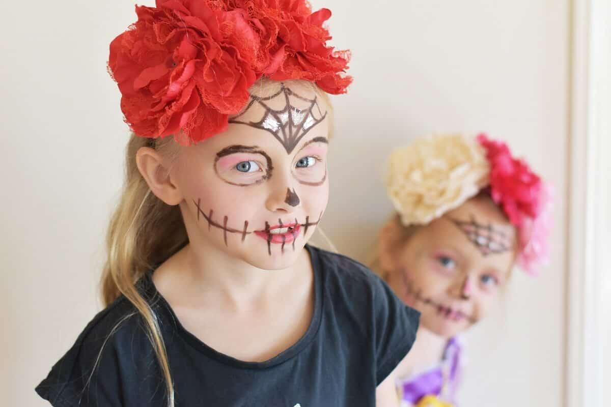 simple sugar skull makeup costume diy
