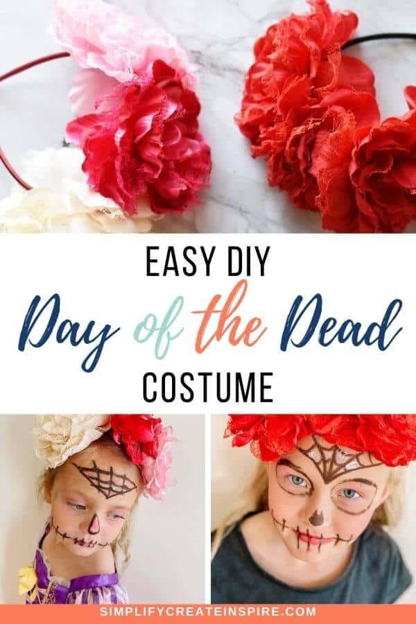 simple sugar skull makeup costume diy (8)
