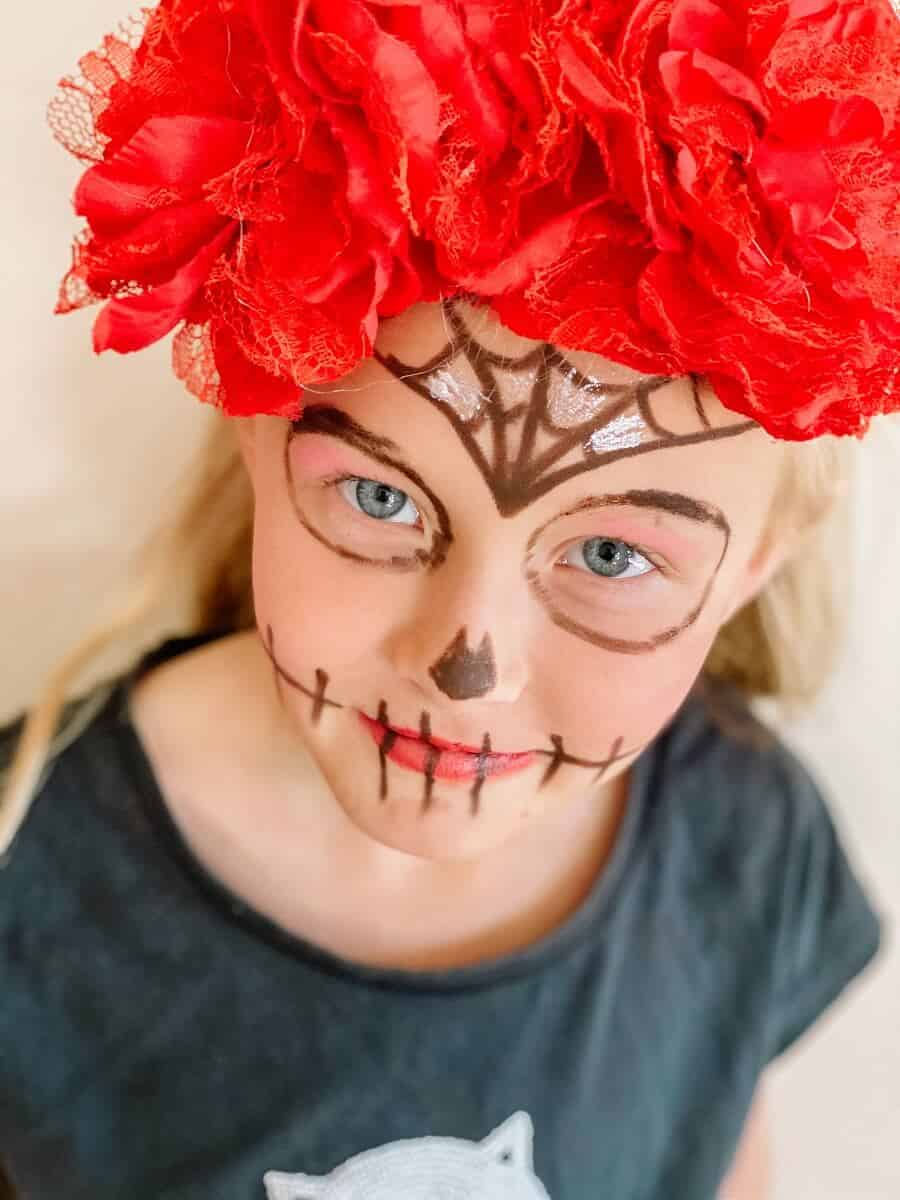Simple sugar skull makeup costume diy (8)