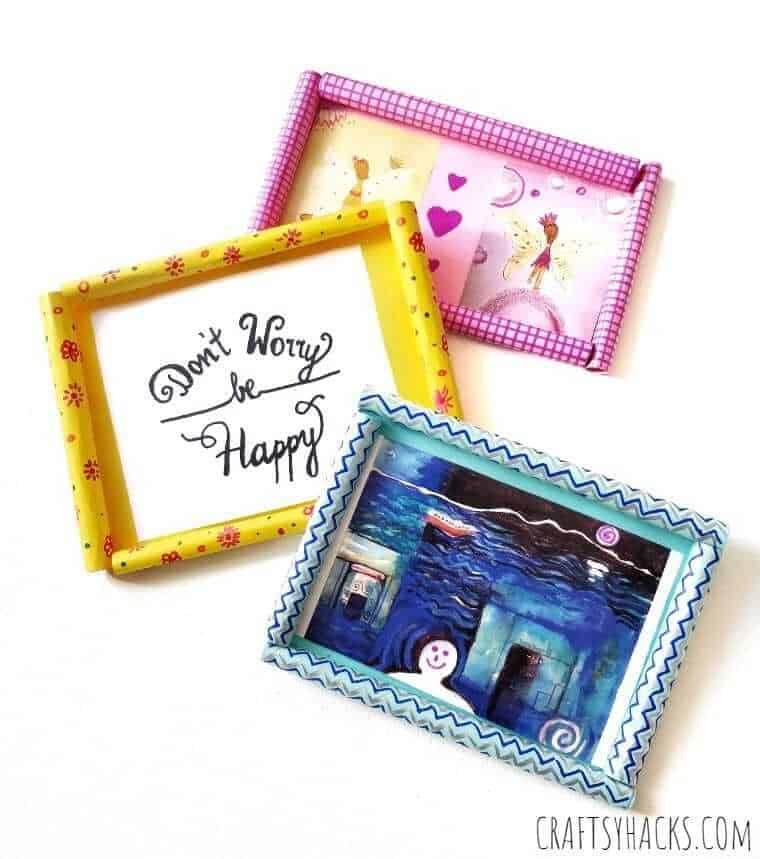 Diy paper photo frames