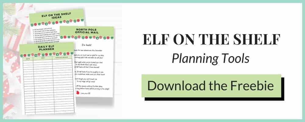 Free printable elf planner and elf on the shelf return letter