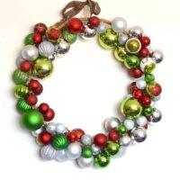 DIY Bauble christmas wreath tutorial
