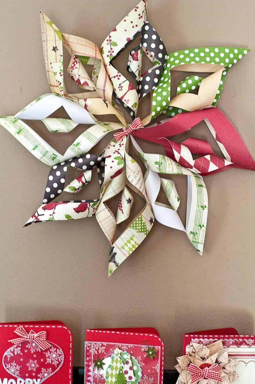Diy paper christmas decoration