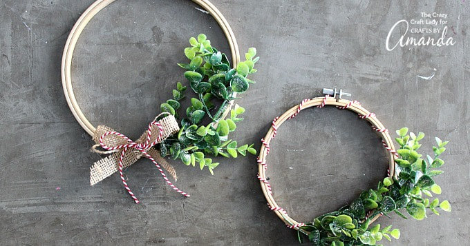 Embroidery hoop wreath fb