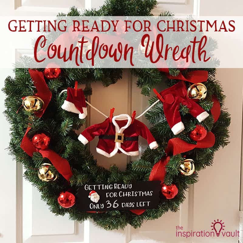 Getting ready for christmas countdown wreath feature