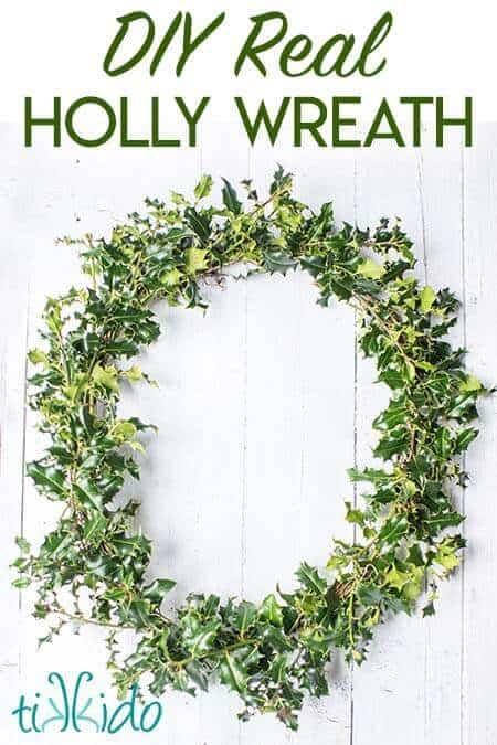 Hero real holly wreath