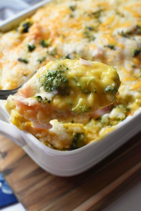 Leftover christmas ham and broccoli casserole