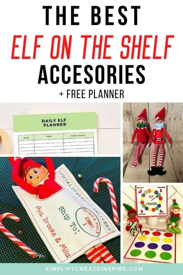 Free elf on the shelf planner accessories