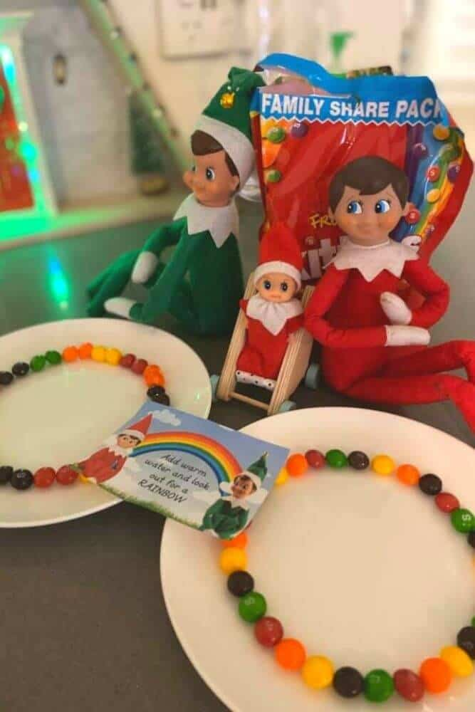 Elf rainbow skittle experiment