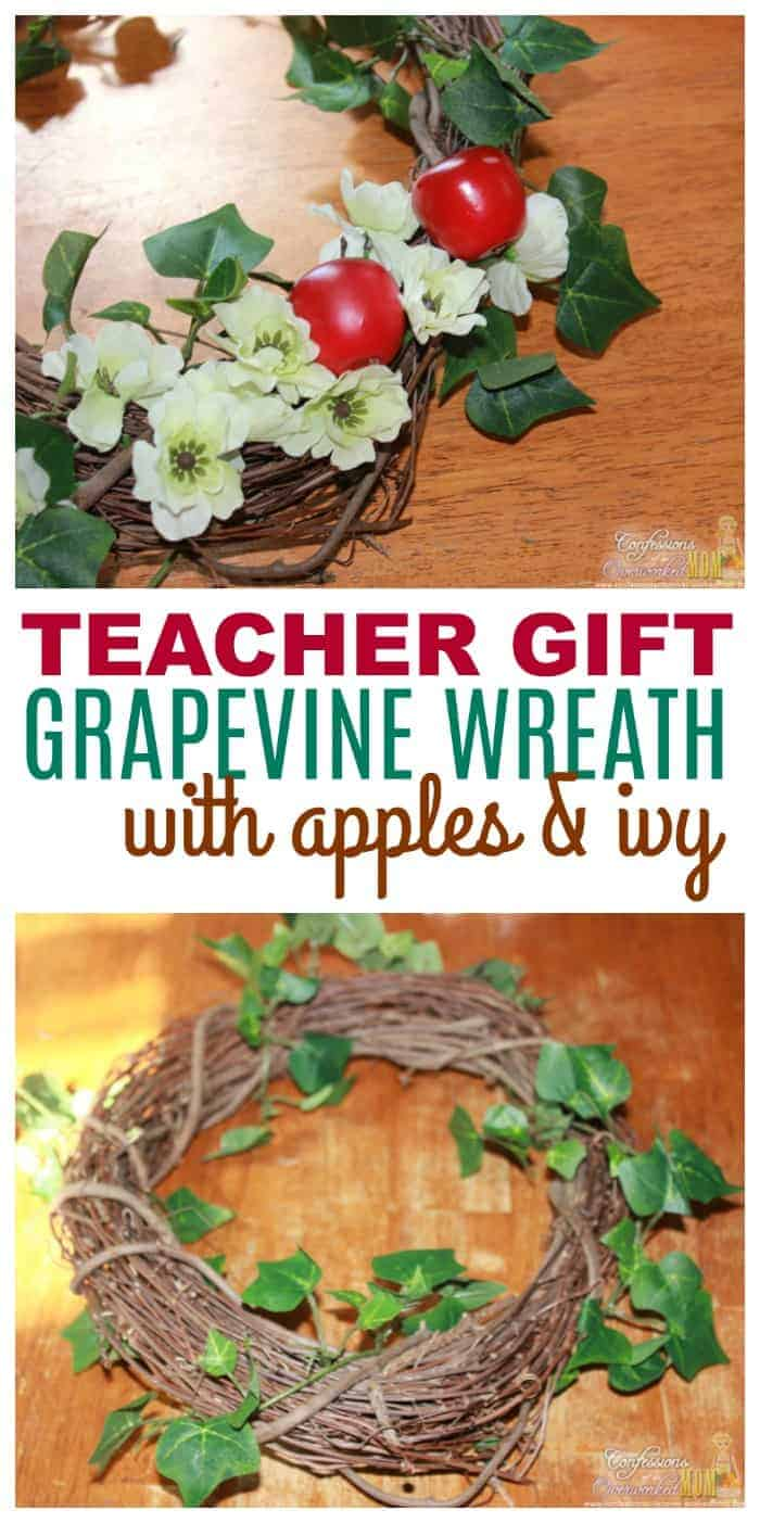 Homemade teacher gifts wreaths