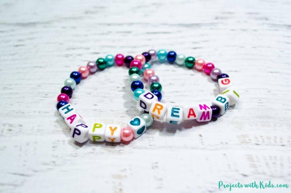 Beaded friendship bracelets for classmates