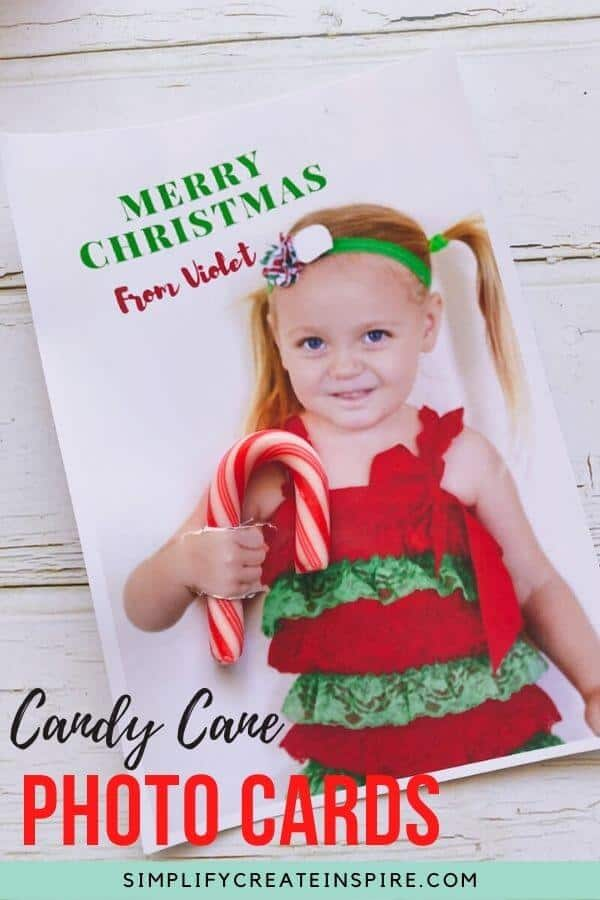 Photo christms cards with candy canes2
