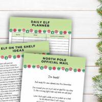 printable elf on the shelf planner return letter