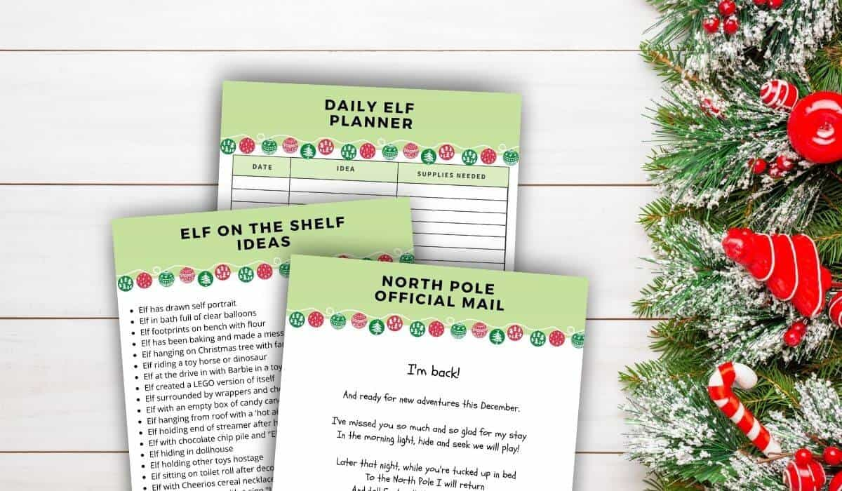Printable elf on the shelf planner return letter