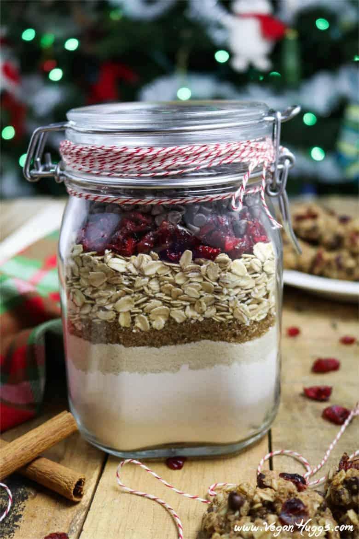 Cookies in a jar christmas gift