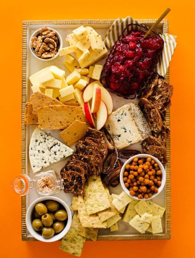 Vegetarian cheese board