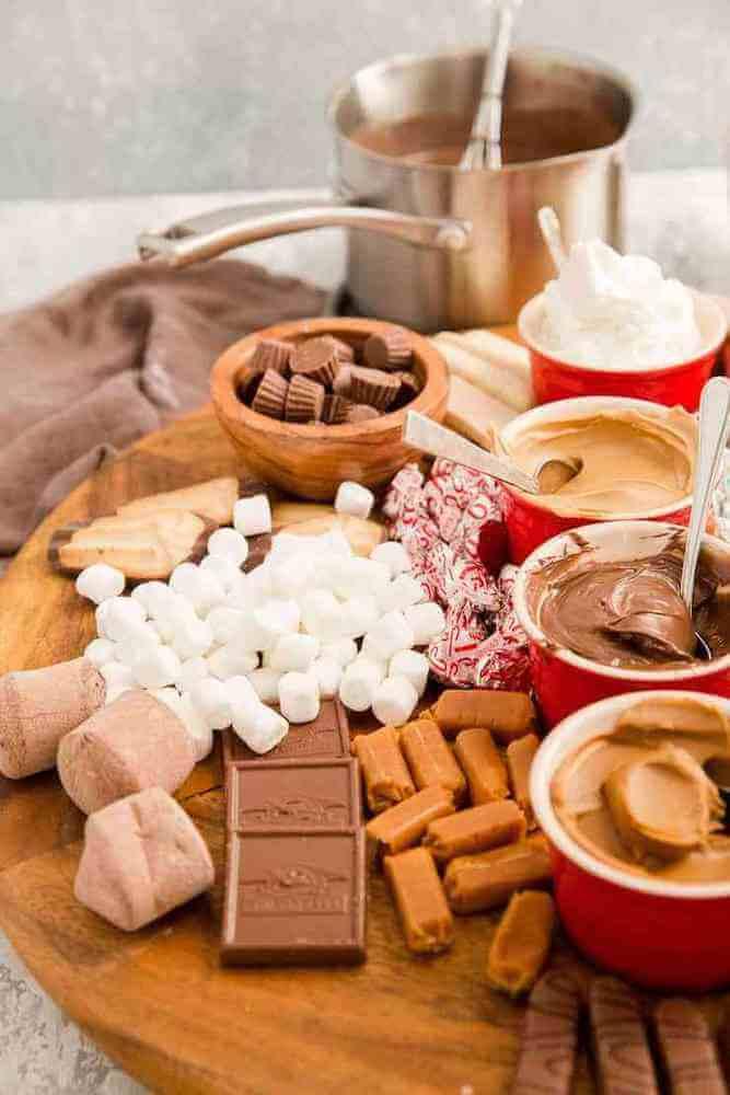 Hot chocolate charcuterie