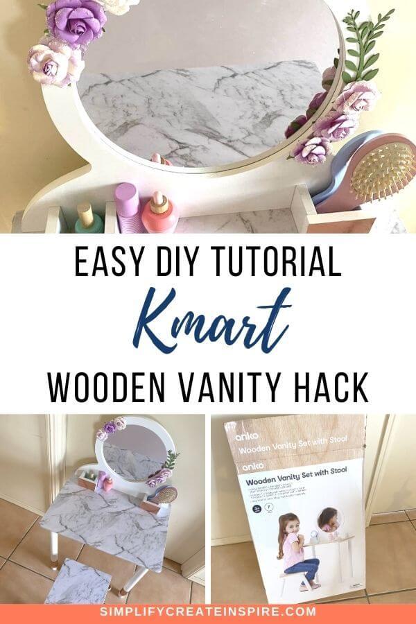 Kmart vanity hack wooden vanity set