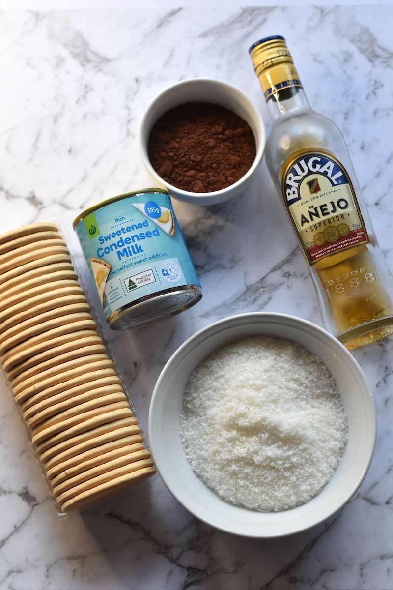 Rum ball ingredients